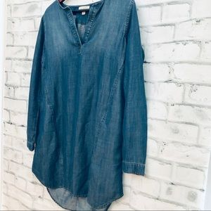 Anthropologie Cloth & Stone Chambray Dress New Tag